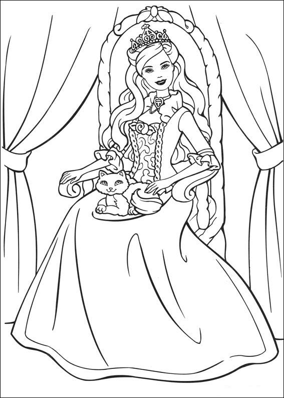 Omalovánky barbie princezna a švadlenka