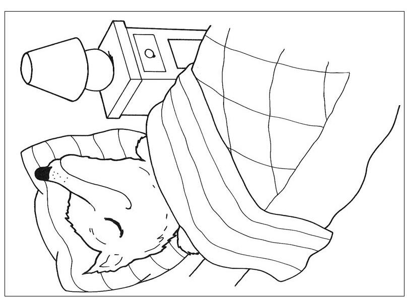 Obrázek cervena karkulka omalovanky 6