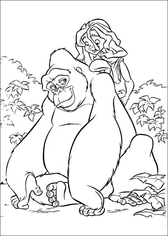 Disney Tarzan 21 Omalov 225 Nky Pro Děti Online K Vytisknut 237